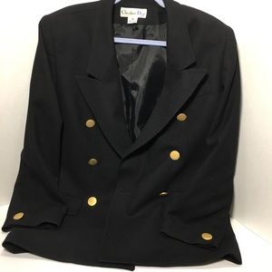 80s VINTAGE Dior Black 100% wool blazer